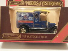 MATCHBOX MODELS OF YESTERYEAR Y-12 1912 MODEL T - ROSELLA CASH SALES SERVICE