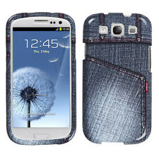 For Samsung Galaxy S III 3 HARD Protector Case Snap Phone Cover Black Jeans