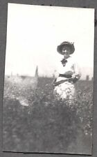 VINTAGE PHOTOGRAPH 1914 GARNER RANCH HEMET CALIFORNIA GIRL GUN PISTOL OLD PHOTO