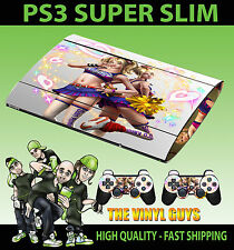 PLAYSTATION PS3 SUPER SLIM LOLLIPOP CHAINSAW LIGHT SKIN STICKER & 2 PAD SKINS