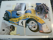 A070-POSTER SEYMAZ-YAMAHA 1980 CEES SMIT AND BOY BROUWER NO4 SIDECAR RACING