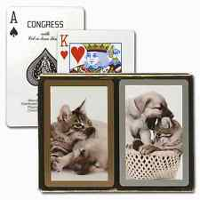 CONGRESS DOGS & CATS BRIDGE PLAYING CARDS 2 DECK SET STANDARD INDEX NEW IN BOX