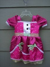 Lalaloopsy Doll Girls Halloween Costume Dress & Shoe Covers Sz S Small Pink