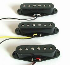 Set of Alnico V Single Coil Pickup SSS for Strat Style Guitar Black Color HZSSS