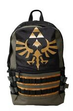 The Legend Of Zelda Triforce Built Up School Book Bag Backpack New With Tags!