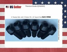 M5 x 16mm Titanium Bolt Taper Head / Ti Bolt 6 pcs - BLACK Nitride GR5 for stems