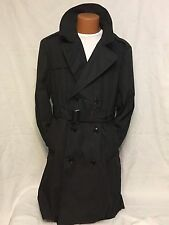 COAT ALL WEATHER MENS OVERCOAT TRENCH RAIN JACKET US ARMY BLACK CURRENT 40XS NOS