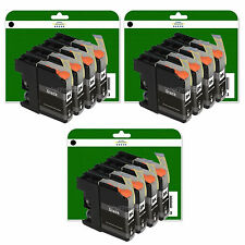 12 Black Ink Cartridges for Brother MFC J6720DW J6920DW non-OEM LC123 V3