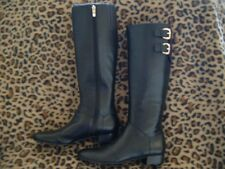 new ENZO ANGIOLINI MARO WOMENS BLACK LEATHER RIDING BOOTS 9M