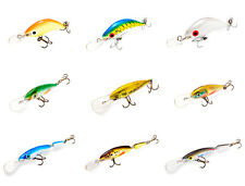 9 Ugly Duckling Fishing Lures for finesse fishing, Ultra light lures, balsa wood