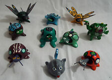 Lot of 10 Assorted Bobbleheads Turtle, Bug, Fish, Frog, Butterfly Dinosaur