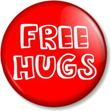 "FREE HUGS 25mm 1"" Pin Button Badge Novelty Cute Nerd Geek Sweet Give Love Fun"