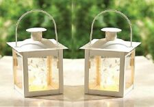 """White Teacup Candle holder Lantern. 4 3/4"""" tall. Perfect for a wedding. Romantic"""