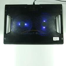 "Laptop Cooling Pad Cooler Chill Mat Chiller 2 Fan Led Light 11- 15 "" Notebook"