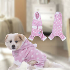 Warm Winter Puppy Clothes Jumpsuit Apparel Cute Pet Dog Polka Dots Pajamas
