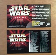 STAR WARS EPISODE 1 WIDEVISION TOPPS TRADING CARDS FULL SET 1 - 80 INC EXCELLENT