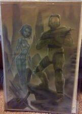 """Halo Master Chief by Deacon Black DBLACK - Original Color Comic Art 11.5"""" x 18"""""""