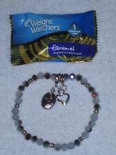 """Weight Watchers Candy - Diet Tracker Bracelet -Plum Opal - 8"""""""