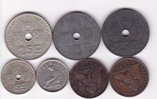 7 x 2 centimes bis 50 centimes Belgien 1909 - 1942 Leopold und Albert Belgium