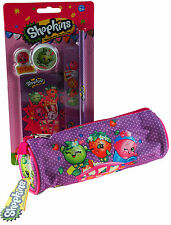 Shopkins School Pencil Case And 5 Piece Stationery Set
