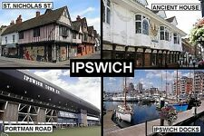 SOUVENIR FRIDGE MAGNET of IPSWICH ENGLAND