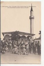 B77956 mosquee d un village  tves important ler macedonie  scan front/back image