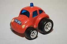 PLASTIC MADE IN HONG KONG VW VOLKSWAGEN BEETLE KAFER RED FIRE CHIEF EXCELLENT