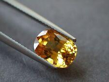 Natural Yellow Sapphire, 3.68 ct. VVS w/Cert