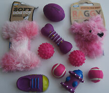 10 X ASSORTED PUPPY SMALL DOG TOY DOG DOG TOY SET