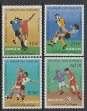 XG-T287 COMOROS IND - Football, 1986 Mexico '86 World Cup MNH Set