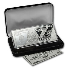 PRE-SALE 10/25 - 4 oz Silver Bar - 2016 $100 Bill (w/Box & COA) - SKU #94106