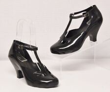 Black VIVIENNE WESTWOOD + MELISSA Brazil Rubber Jelly T-Strap Mary Jane Shoes 5