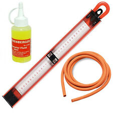 Rothenberger U Gauge Manometer 12in 300mm 2 Metre Rubber Hose & 60ml Fluid Dye