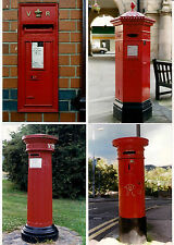 Post Box Photos - British VR Queen Victoria - 3 Pillar Boxes & 1 Wall Box: 1990s