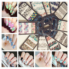 10Sheet/Set BORN PRETTY Nail Art Water Decals Flowers Transfer Stickers W11-20