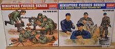 Academy 1:35th Miniatures Figures German Machine Gun crew & WWII Tank Crew New