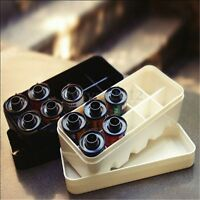 FotoFlex 35MM Film Case for 10 ROLLS 135 hard plastic 2 Colors Black/White