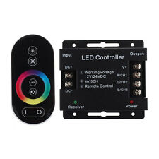 Latest 12V Touch Screen Dimmable Remote Wireless RF Controller For Led RGB