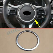 Chrome Steering Wheel Cover Ring Decorate For Kia Sportage QL 2016+ Accessories