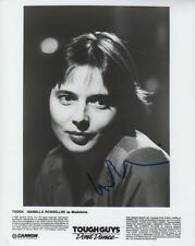 "Isabella Rossellini ""tough Guys Don 't Dance"" autógrafo signed 20x25 cm imagen S/W"