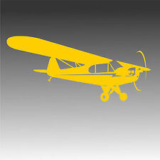 Piper J3 Cub Decal Light Plane J-3 Cub Pilot Sticker