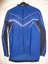 Shimano Men's Performance Lombardia L/S Cycling Jersey Blue / Black Size Large