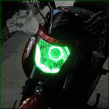 Cool Green Hi Visibility Angel Eye Halo Ring suit Yamaha V-Star XVS 650 Cruiser