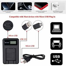 Battery Charger Canon LP-E6 & USB Cable EOS 5D Mark II III 70D 7D 60D 3D 5D3 GO