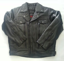 Classic Kids Motorcycle Jackets - Black Leather - 12 - Boys Biker Coat - Childs