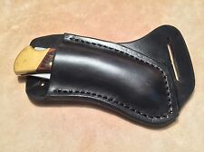 Buck 110/112 Custom Black Leather Crossdraw Sheath (right hand)