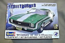 Revell 1/25 1969 Chevy Camaro SS 427 Model Kit Partially Built Complete 5274