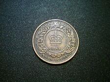 1864 Canadá Victoria Nova Scotia moneda de un centavo. Excelente Grado