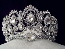 Super Big Bridal Tiara Crown Headpiece Rhinestone Wedding Prom Pageant Crowns P9