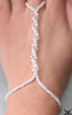 HAND MADE CRYSTAL JEWELLERY BEACH WEDDING SLAVE BRACELET BOLLYWOOD WRISTLET